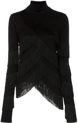 Y/Project fringe tassel turtleneck jumper
