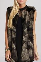BCBGeneration Multi-Tonal Fur Vest