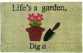 Asstd National Brand Life's a Garden Rectangular Doormat - 18X30