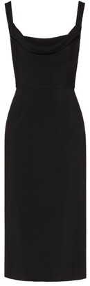 Valentino Cowl Neck Fitted Dress