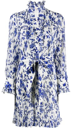 Tory Burch Deneuve floral print shirt dress