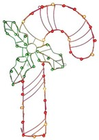 Vickerman Light-Up Candy Cane Wire Motif Multicolored (48x32)