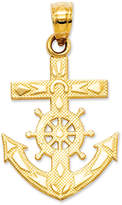 Macy's 14k Gold Charm, Mariner's Cross Charm