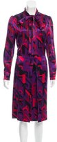 Prada Silk-Blend Abstract Print Dress