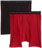 Hanes Red Label Men's 2 Pack Cool DRI No Ride Up Boxer Briefs