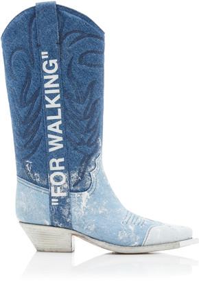 Off-White Off White C/O Virgil Abloh Denim Cowboy Boots