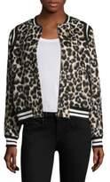 Parker Vera Leopard Varsity Jacket