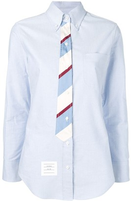 Thom Browne Tie-Detail Oxford Shirt