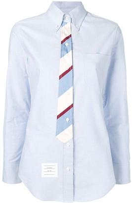Thom Browne Trompe L'Oeil bow tie Oxford shirt