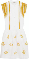 Temperley London Gilda embroidered cotton-poplin mini dress