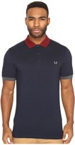 Fred Perry Color Block Pique Shirt Men's Short Sleeve Knit