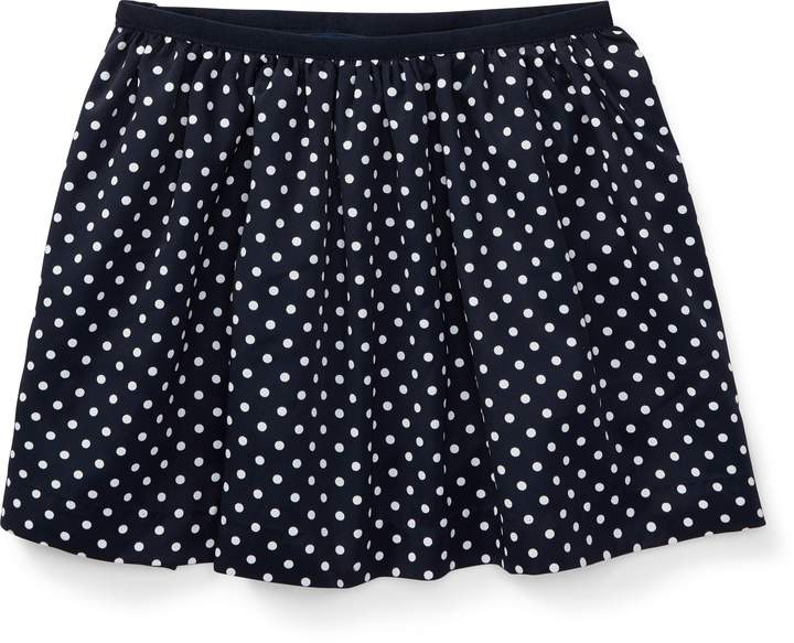 Ralph Lauren Polka-Dot Twill Circle Skirt