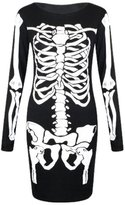 MIXLOT Ladies Skeleton Bodysuit & Tunic Dress Set With Leggings Size S/M,M/L (M/L 10-12, )
