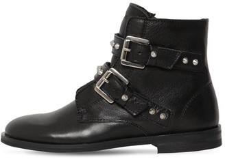 Zadig & Voltaire Studded Leather Ankle Boots