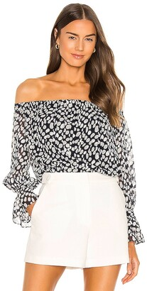 Milly Abstract Dot Burn Top