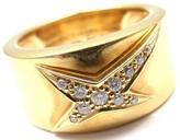 Mauboussin 18K Yellow Gold & 0.15ct Diamond Celestial Star Ring Size 6.25