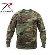 Rothco Long Sleeve Camo T-Shirt, - 3X Large