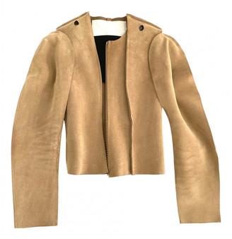 Maison Martin Margiela Pour H&m Beige Leather Jackets