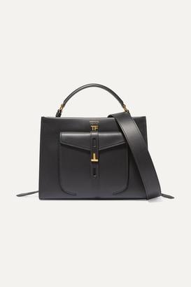 Tom Ford T Twist Small Textured-leather Shoulder Bag - Black