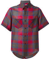 Facetasm checked shortsleeved shirt - men - Cotton/Nylon/Wool - 3