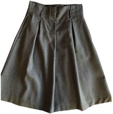 C.P. Company Anthracite Wool Skirt for Women