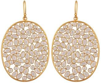 Carousel Jewels Large Oval Sliced Crystal Earrings