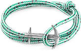 Anchor & Crew ANCHOR & CREW Green Dash Admiral Anchor Silver And Rope Bracelet