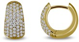 Lafonn 18K Gold Plated Sterling Silver Simulated Diamond Micro Pave Huggie Earrings