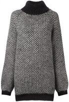 Marc Jacobs oversized jumper - women - Mohair/Silk - M
