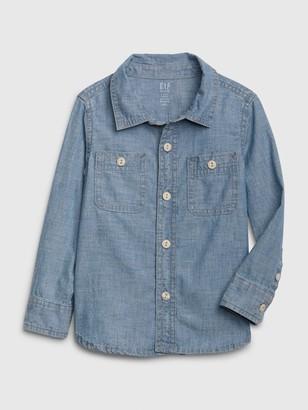 Gap Toddler Long Sleeve Chambray Shirt