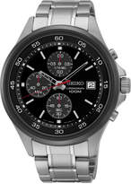 Seiko Men's Chronograph Stainless Steel Bracelet Watch 43mm SKS491