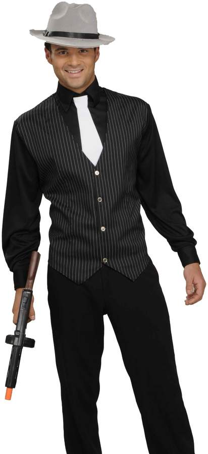 Forum Men's Gangster Shirt, Vest And Tie