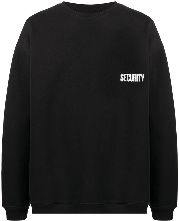 Vetements Security print oversized sweatshirt