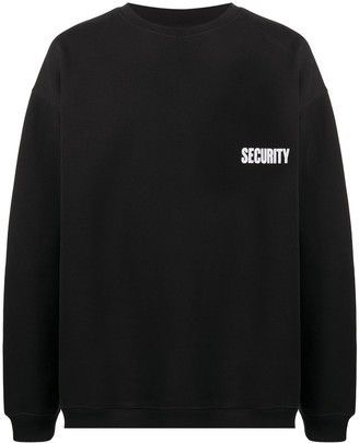 Vetements Security print oversized sweatshirt