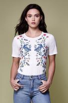 Yumi Floral Bird T-Shirt Ivory