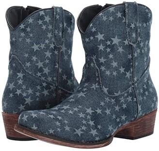 Roper Merica Denim (Stonewashed Denim/All-Over Star Print) Women's Boots
