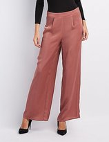 Charlotte Russe Satin Wide-Leg Trousers