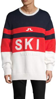 J. Lindeberg Striped Merino Wool-Blend Sweater