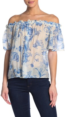 Flying Tomato Off-the-Shoulder Print Top