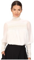 See by Chloe High Neck Georgette Blouse Women's Blouse