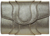Khirma Eliazov Jolie Snakeskin Clutch Bag, Gold