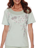 Alfred Dunner Savannah Short-Sleeve Embroidery Top