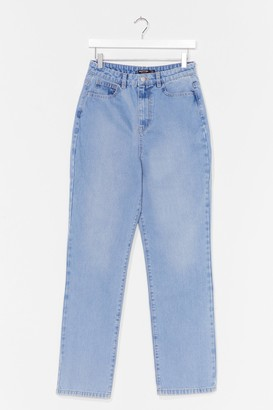 Nasty Gal Womens A Real Straight Leg High-Waisted Jeans - Blue - 6