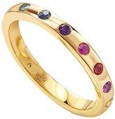 Missoma 18ct Gold Vermeil 7 Stone Multi Gemstones Ring - Size M