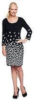 Isaac Mizrahi Live! Leopard Doubleknit Dress