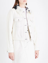 3.1 Phillip Lim Ladies White Contrast Traditional Sherpa Collar Denim Jacket