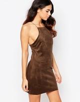 Rare Suedette Eyelit Dress