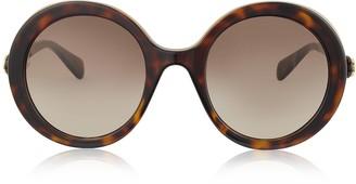 Gucci GG0367S Round-frame Acetate Sunglasses