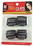 Magic 12pc Wig Clips Snap-Comb #052 (Medium, Brown)