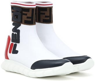 Fendi Kids FENDI MANIA sock sneakers